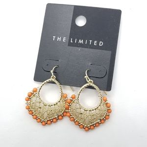 Orange and gold earrings the limited